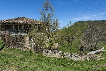 Old abandoned house in countryside village