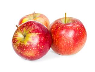 Three fresh red apple