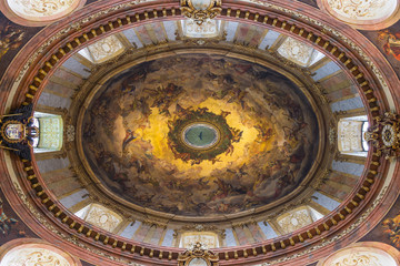 Painting on the ceiling of Peterskirche, Vienna, Austria
