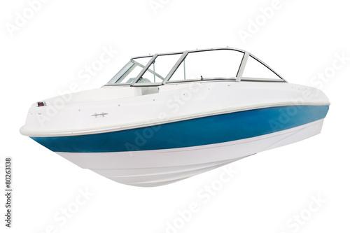 Leinwandbild Motiv The image of a motor boat under the white background