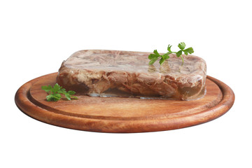 Aspic with greenery