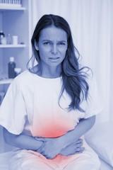 Woman having bad stomachache