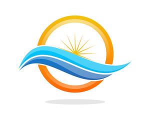 Wave Sun Circle