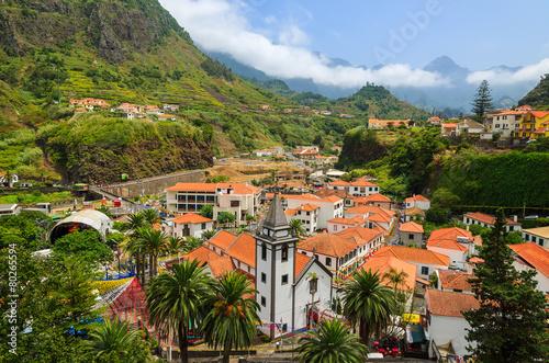 Papiers peints Ile View of Sao Vicente mountain village, Madeira island, Portugal