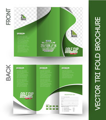 Golf Tournament Tri-Fold Brochure