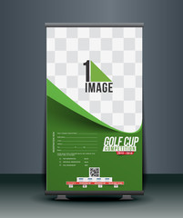 Golf Tournament Roll Up Banner Design