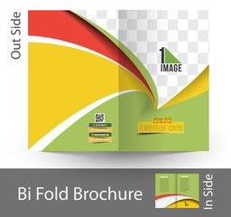 Interior Designer Bi-Fold Mock up & Brochure Design