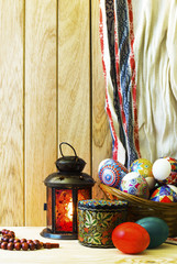 Easter decorated table