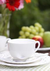 Tea time in garden