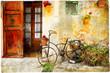 charming street in Valdemossa village with old bike - 80267939