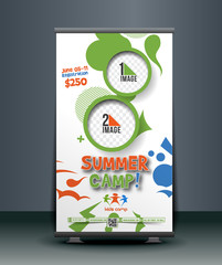 Summer Camp Roll Up Banner Design