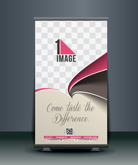 Cup Cake Roll Up Banner Design