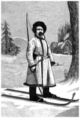 Traditional Russian/Finnish Hunter - 19th century