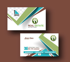 Real State Business Card Vector Template.