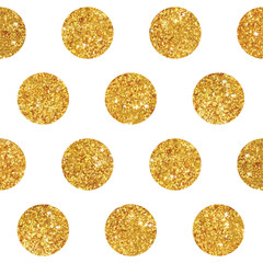 Vintage Geometric Glittery Gold Background  - Seamless Pattern