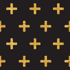 Vintage Geometric Glittery Gold Background  - Seamless Pattern