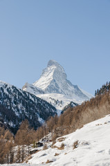 Zermatt, Dorf, Walliser Alpen, Wintersaison, Zmutt, Schweiz