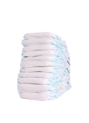 Stack of diapers