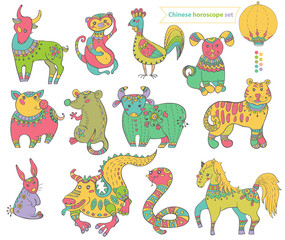 Chinese horoscope animals