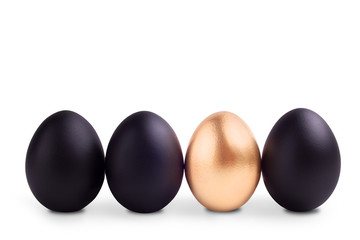 Success Symbol Concept with gold egg