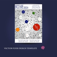 Abstract brochure and flyer cover in polygonal style