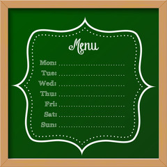 chalkboard sign - menu