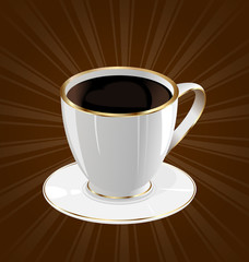 Vintage background with coffee cup
