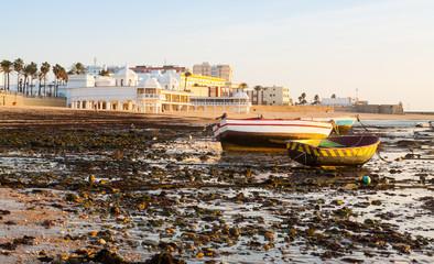 Boats at  Playa de la Caleta. Cadiz