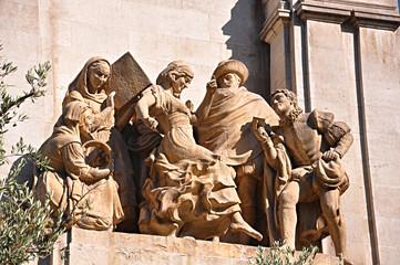 Madrid, monumento a Cervantes, La Gitanilla, Federico Coullaut