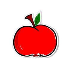 apple vector for sticker illustration