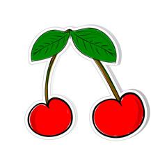 cherry vector for sticker illustration
