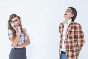 Thoughtful geeky hipsters