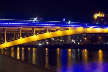 Smolensky metro bridge in Moscow