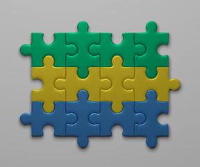Gabon flag of puzzles