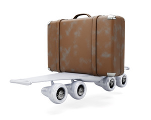 Suitcase with wings