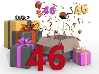 Party and presents for number 46