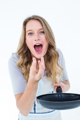 Woman eating the meal
