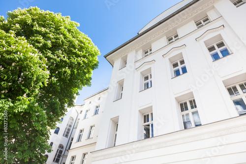 Fotobehang Berlijn Altbau - Haus und Baum in Berlin