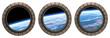 Leinwandbild Motiv Space Station Portholes