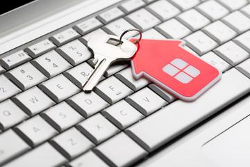 House key on keyboard