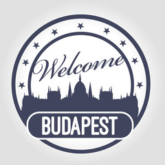 Stamp Welcome to Budapest