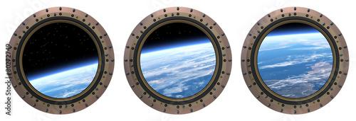 Aluminium Ruimtelijk Space Station Portholes