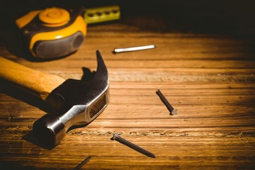 DIY tools laid out on table