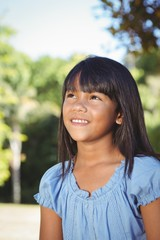 Cute little girl in the park