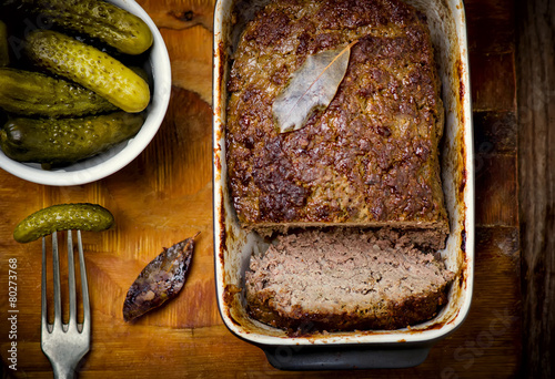the French terrine and pickles - 80273768