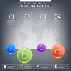 Modern infographic network template with place for your text on