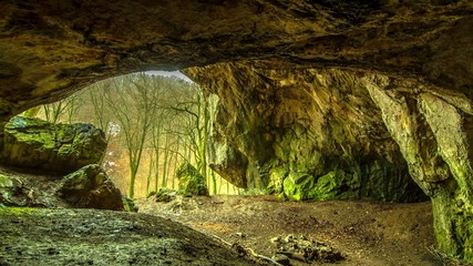 4k time lapse cave