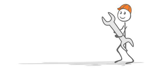 Strichmännchen mit Werkzeug