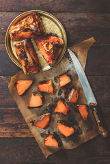 Grilled pumpkin slices