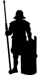 Legionär mit Schild Silhouette